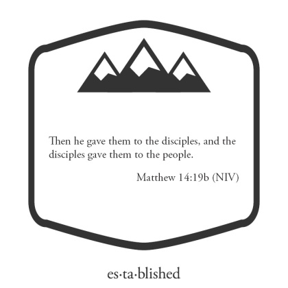 Matthew 14:19